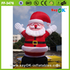 outdoor decoration large inflatable christmas santa claus