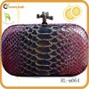 Wholesale popular clutch bag snake lether studded satchel box purse box