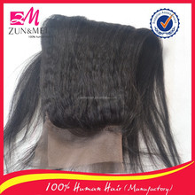 Factory price fast delivery 100 handmade ear to ear lace frontal kinky straight yaki hair weave