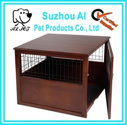 Indoor Pet Crate Large Cage End Table Furniture Wooden Dog Kennel