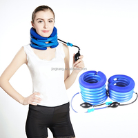 adjustable medical cervical neck collar inflatable neck cervical traction for neck brace support
