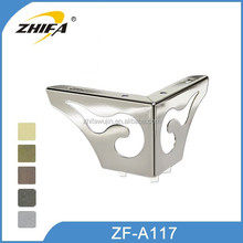 ZF-A117 High quality trestle legs rubber feet for chairs wood table bases feet