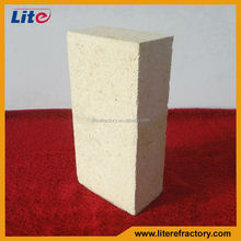 Thermal shock resistant high mechanical strength refractory alumina bricks