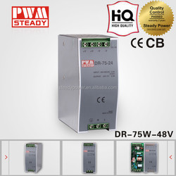 DR-75-48 75W 48V 1.6A Din Rail Switch Power Supply With Short Circuit Protection