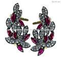 Diamante orelha manguito, ouro e diamante ear cuff jóia por atacado, 925 prata esterlina orelha algemas