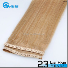2015 Hot Selling Full cuticle Cheap Wholesale Halo Hair Extension Remy