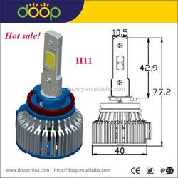 2015 hot motorcycle part, built-in fan 48W IP68 automotive headlight, led car headlight bulb H11