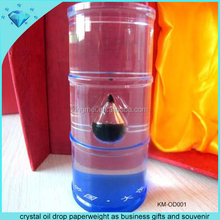crystal oil drop paperweight as business gifts and souvenir