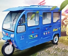 3 Wheel electric Taxi / Closed Cabin for 6-7 Passengers Tricycle/ customerizd