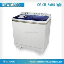 hot sale laundry 15kgs transparent big twin-tub washing machine price machinery with two baskets