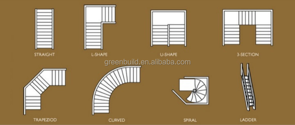 Solid wood staircase in stairs price view solid wood for Escaleras en forma de u