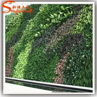 China artificial grass wall factory wholesale artificial plant wall covering plastic vertical artificial green wall