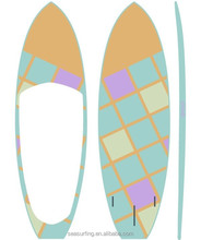 cute design mixture color sup carbon fiber paddle boards