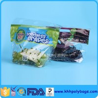 High Quality Fruit Protection Bag Plastic Zip Lock Grapes Bag