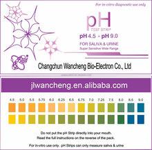 wide range sensitive ph strips values in saliva & urine 4.5-9.0 CE, FDA, ISO approved