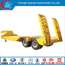 Competitive 2-axle lowbed semi trailer price 60 ton low bed trailer dimensions