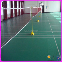 PVC, 100% PVC material and UV surface treatment badminton floor