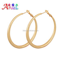Support small orders have spot wholesale casual styles round shape high quality basketball wives gold plated earrings