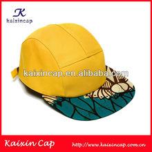 OEM designed flat brim custom made 5 panel snapback baby top quality baseball cap