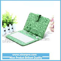 Cheapest price Green Portable USB Keyboard Faux Leather Case For 7 inch Tablet PC in stock
