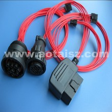 HOT sale J1939 Diesel switch wiring to J1962 obd plug for heavy vehicle