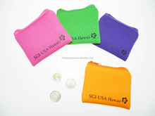 China factory silicone Coin Purse neoprene coin purse clasp wallet Cheap Rubber Coin Purse with ZIP