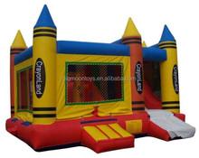 2015 hot crayonland inflatable castle,crayonland inflatable bouncer,crayonland inflatable toy