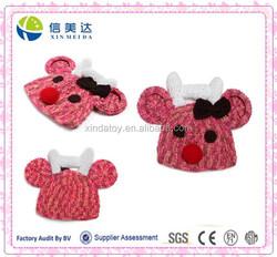 Handmade Crochet Knit Antlers Reindeer Hat Christmas Baby Hat