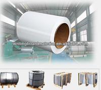 whiteboard steel enamel coated steel sheet,magnetice board sheet back surface with galvanized steel sheet roll
