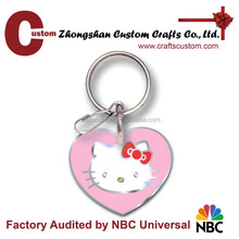 2015 New design soft enameled cute souvenir metal keychain