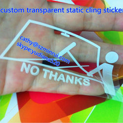 custom car window decal and transparent static cling sticker without adhesive,window static cling decal,removable window decals