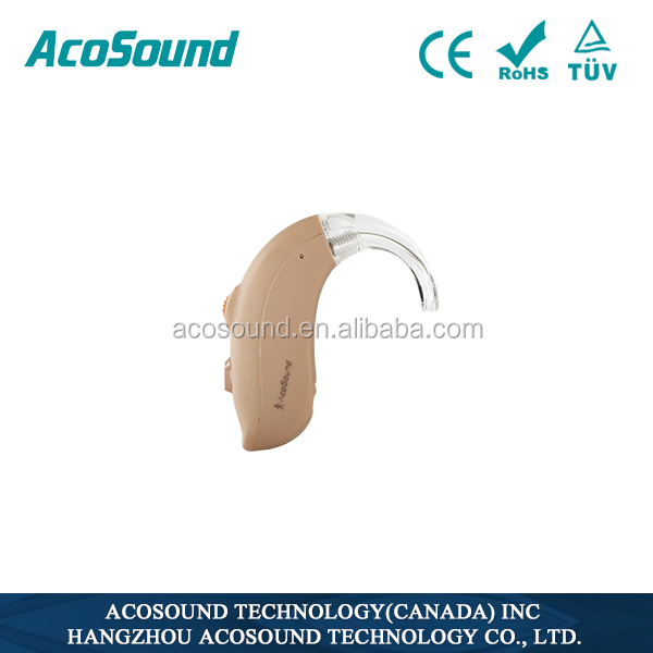China Alibaba AcoSound Acomate 420 BTE 4 channels CE TUV ISO approved Cheap Digital Hearing Aids