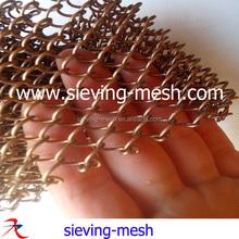 Metallic diamond mesh curtains, metal interior fitting woven wire fabric