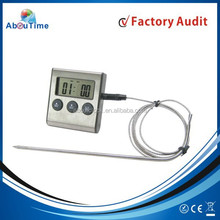 Best selling metal face digital thermometer with probe and timer