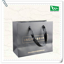 Black shopping paper bags with your own logo luxury brand paper bag