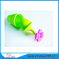 2015 hot sell silicone tea infuser, flower shape tea strainer