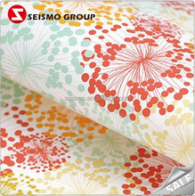 Retro Flower Printing Smooth Surface Wrapping Paper