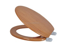 17inch MDF wood Veneer Toilet Seat cover, MDF white toilet seat cover, soft closing MDF toilet seat cover