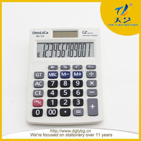 ,office ,Dektop , plastic calculator white color for 12 digital