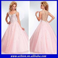 ED-2639 Beaded cap sleeves sheer back japanese prom dress patterns long dress prom