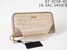 Useful Casual Weave With PU Car Holders Phone Cased Women Clutching Purses And Wallets