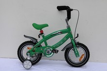 Red color with rear box front basket baby girl bmx,kid bike,four wheel bicycle