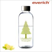 500ml/600ml/1000ml BPA free tritan water bottle with metal lid