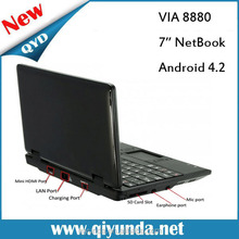 2015 ,hot selling VIA 8880 Dual-Core 7 inch mini netbook ,slim laptop computer,cheapest laptop in china