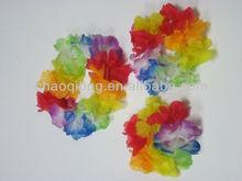 colorful artificial flower bracelet