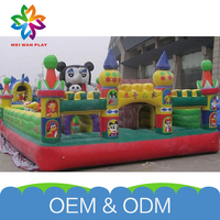 Colorful Attractive Air Jumping Bouncer New Product Giant Inflatable Castle Fun City