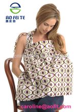 China wholesale multi-purpose baby product breathable cotton printed nursing cover breastfeeding cover with mouth wipe