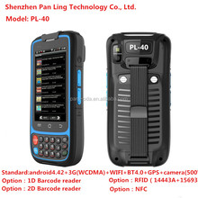 PL40 AC060 logistics pos machine with touch screen bluetooth wifi gprs gps and barcode scanner