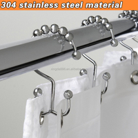 Shower curtain rings/bath/shower curtain curtain hook/ 100% material 304stainless steel double hooks