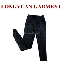 2015 latest lace designs PU leather trousers